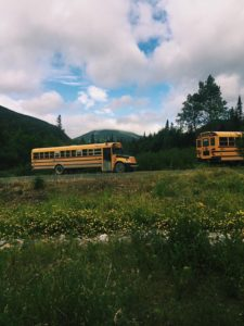 Photo de bus au Canada