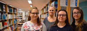 Photo de Madame Wailly et quelques élèves de la licence
